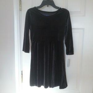 Other - NWT Girl's Black Velour Skater Dress Final Price